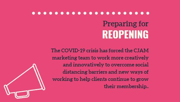 Preparing Members For Reopening – Digital Marketing