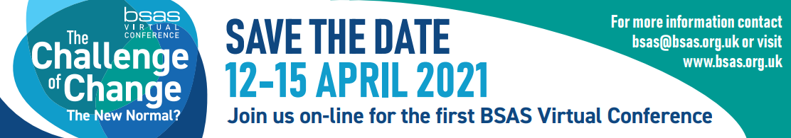 Save the date BSAS 2021